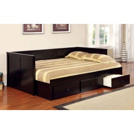 Wolford Black Full Size Storage Daybed