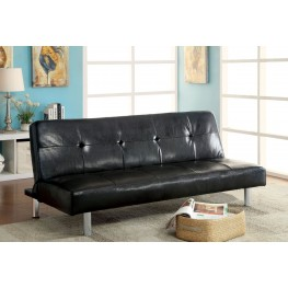 Eddi Black Futon Sofa