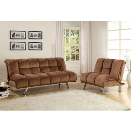 Marbelle Mocha Champion Fabric Living Room Set