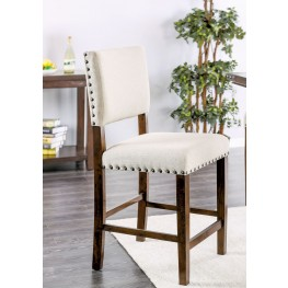 Glenbrook Brown Cherry and Ivory Counter Height Chair Set Of 2