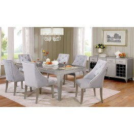 Diocles Silver Rectangular Dining Room Set