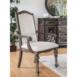 Arcadia Rustic Natural Tone Arm Chair Set Of 2