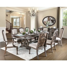 Arcadia Rustic Natural Tone Extendable Rectangular Dining Room Set