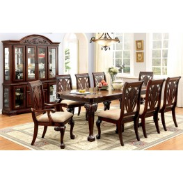 Petersburg I Cherry Rectangular Extendable Leg Dining Room Set
