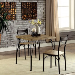 Slingsbury Gray and Dark Bronze 3 Piece Dining Set