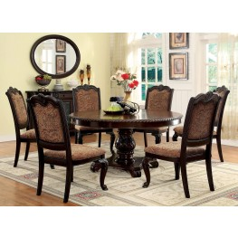 Bellagio Brown Cherry Round Pedestal Dining Room Set