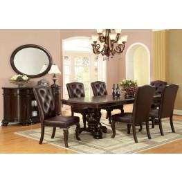 Bellagio Brown Cherry Rectangular Extendable Pedestal Dining Room Set