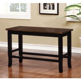 Dover II Black and Cherry Counter Height Bench