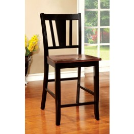 Dover II Black and Cherry Counter Height Chair Set of 2