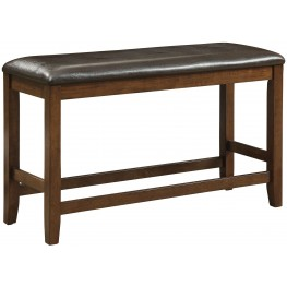 Brockton Ii Rustic Oak Counter Height Bench