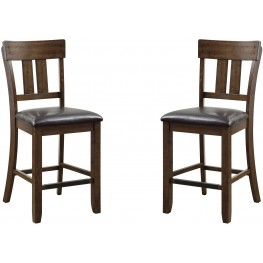 Brockton Ii Rustic Oak Counter Height Chair Set Of 2