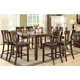 Brockton Ii Rustic Oak Extendable Counter Height Dining Room Set