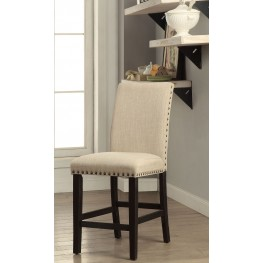Dodson II Black and Ivory Counter Height Chair Set Of 2
