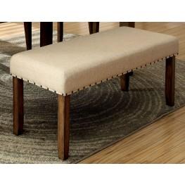 Melston I Ivory Flax Fabric Bench