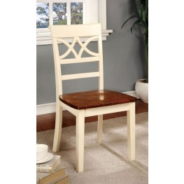 Torrington White and Cherry Side Chair Set of 2
