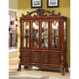 Medieve Antique Oak Buffet With Hutch