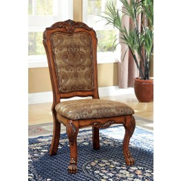 Medieve Antique Oak Side Chair Set of 2