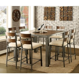 Jazlyn II Weathered Oak Counter Height Dining Room Set