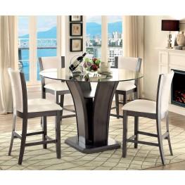 Manhattan III Gray Round Counter Height Dining Room Set
