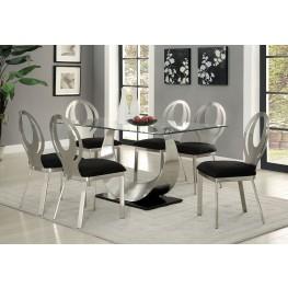 Orla Silver and Black Rectangular Dining Room Set