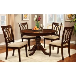 Carlisle Brown Cherry Round Pedestal Dining Room Set