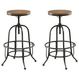 Silvia I Medium Oak Bar Stool Set Of 2
