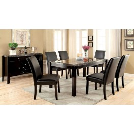 Gladstone I Gray Marble Top Dining Room Set