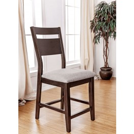 Joinville II Dark Walnut and Light Gray Counter Height Chair Set Of 2