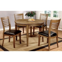 Dwight II Natural Tone Round Dining Room Set