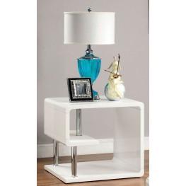 Ninove I White High Gloss End Table