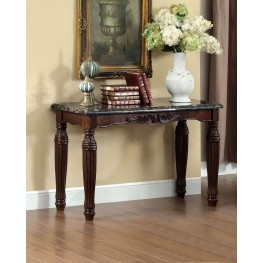 Brampton Dark Walnut Faux Marble Top Sofa Table