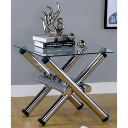 Sarina Chrome End Table