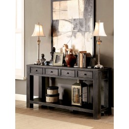 Meadow Antique Black Sofa Table