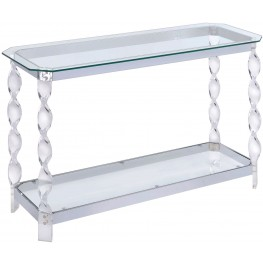 Mallow Chrome Sofa Table