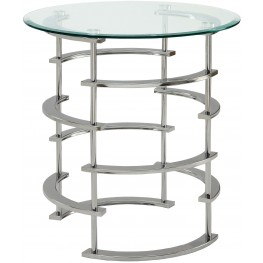 Clonmel Chrome End Table