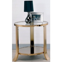 Rikki Champagne End Table
