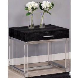 Rhea Black End Table