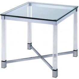 Simran Glass Top End Table