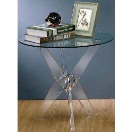 Tula Glass Top End Table