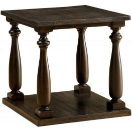 Luan Dark Walnut End Table