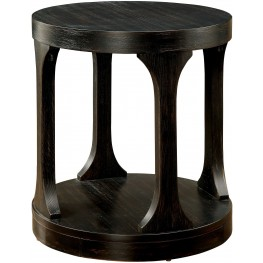 Carrie Antique Black End Table