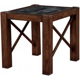 Rani Brown Cherry End Table