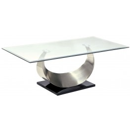 Orla II Silver and Black Coffee Table