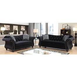 Jolanda I Black Living Room Set