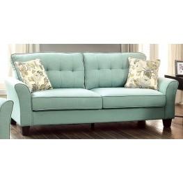 Claire Blue Fabric Sofa