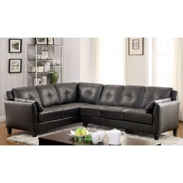 Peever Black Sectional