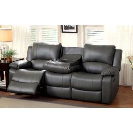 Sarles Gray Drop-Down Table Reclining Sofa
