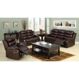Berkshire Rustic Brown Reclining Living Room Set