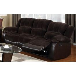 Winslow Rustic Dark Brown Reclining Sofa Cm6556 S
