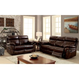 Kinsley Brown Reclining Living Room Set